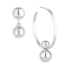 Mood - Mismatched hoop earring set