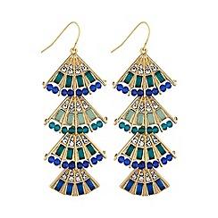 Mood - Layered fan earring