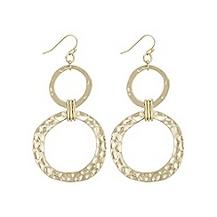 Mood - Gold textured circle earring