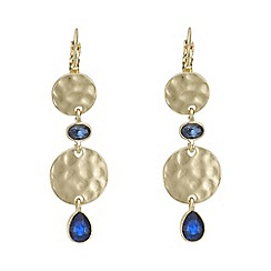 Mood - Textured disc drop earring