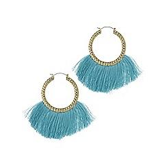 Mood - Fringed hoop statement earring