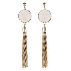 Mood - Pink stone tassel earring