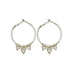 Mood - Triangle charm hoop earring