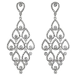 Mood - Crystal peardrop chandelier earrings