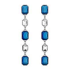 Mood - Blue crystal droplet earrings