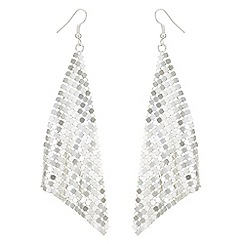 Mood - Silver chainmail drop earrings