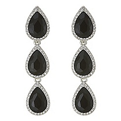 Mood - Jet crystal peardrop earrings