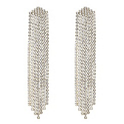 Mood - Gold crystal shower earrings