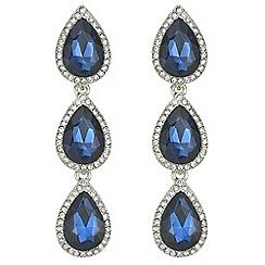 Mood - Blue crystal peardrop earrings