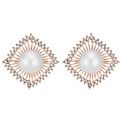 Mood - Pearl fan earrings
