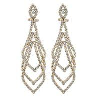 Jon Richard Gold diamante chandelier earrings   Debenhams