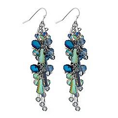 Mood - Beaded cluster drop earrings