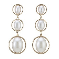 Mood - Oval pearl drop earrings
