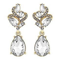 Mood - Gold crystal peardrop earrings