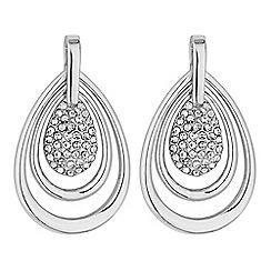 Mood - Silver pave peardrop earrings