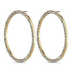 Mood - Oversized crystal hoop earrings