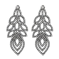 Mood - Crystal diamante leaf earrings