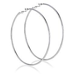 Mood - Silver oversized hoop earrings