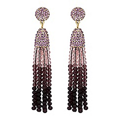 Mood - Beaded tassel drop earrings
