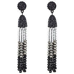 Mood - Tonal beaded drop earrings