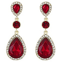Mood - Red crystal peardrop earrings