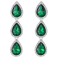 Mood - Green crystal peardrop earrings