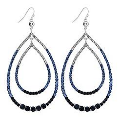 Mood - Crystal oversized peardrop earrings