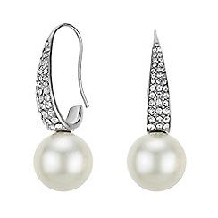 Mood - Pearl and crystal hook earrings