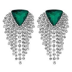 Mood - Diamante fringed earrings