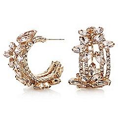 Mood - Floral crystal hoop earrings