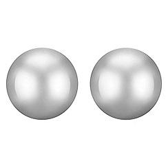 Mood - Silver dome stud earrings