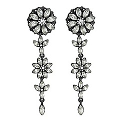 Mood - Floral crystal drop earrings