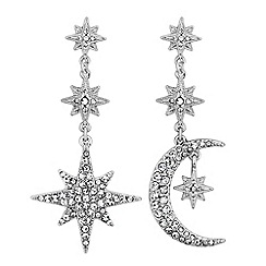 Mood - Crystal moon and star statement earrings