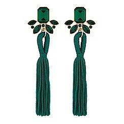 Mood - Crystal tassel drop earrings