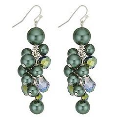 Mood - Pearl cluster drop earrings