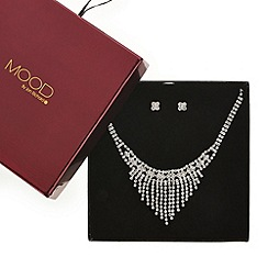 Mood - Diamante crystal shower drop necklace and earring set