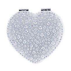 Mood - Aurora borealis jewelled heart compact mirror