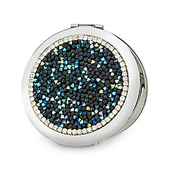 Mood - Mixed bead diamante surround compact mirror