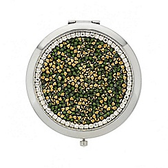 Mood - Mixed green and gold stone compact mirror