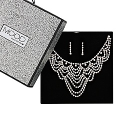 Mood - Online exclusive great value diamante crystal looped jewellery set
