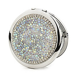 Mood - Aurora borealis crystal embellished compact mirror