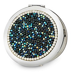 Mood - Blue stone embellished compact mirror