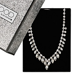 Mood - Crystal navette drop necklace