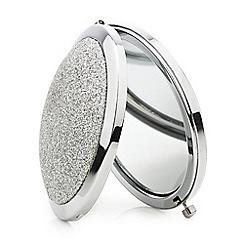 Mood - Silver glitter dome compact mirror