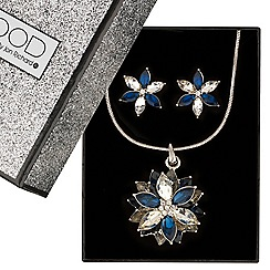 Mood - Blue lotus flower jewellery set