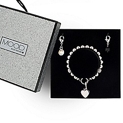 Mood - Polished heart bracelet and charm drop set