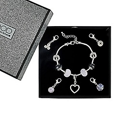 Mood - Interchangeable charm drop polished heart bracelet