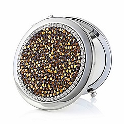 Mood - Gold crushed stone embellished compact mirror