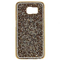 Mood - Gold crushed stone embellished Samsung 6 phone case