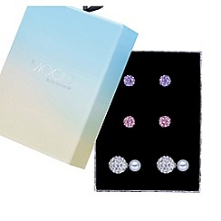 Mood - Pave crystal boxed earring set